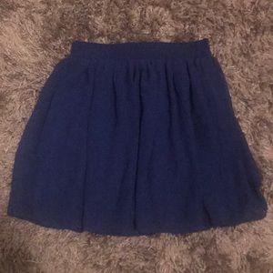 Forever 21 blue flowy skirt